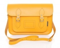 Zatchel Yellow Leather Satchel