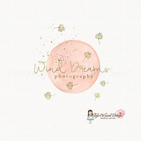dandelion logo design premade logo design by stylemesweetdesign