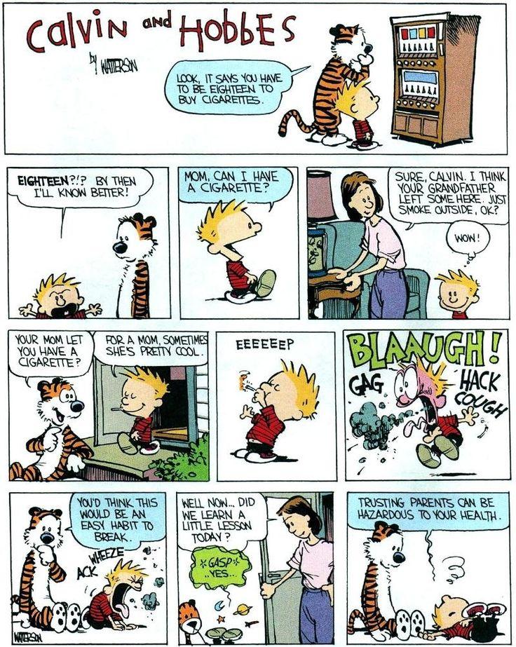 Calvin and Hobbes - Smoking
