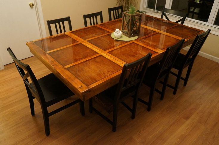 DIY Recycled Garage Door into a gorgeous Table....Garage Door Table @http://www.instructables.com