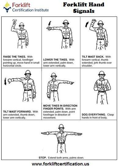Forklift Hand Signals. #forklift #forkliftcertification #forklifttraining
