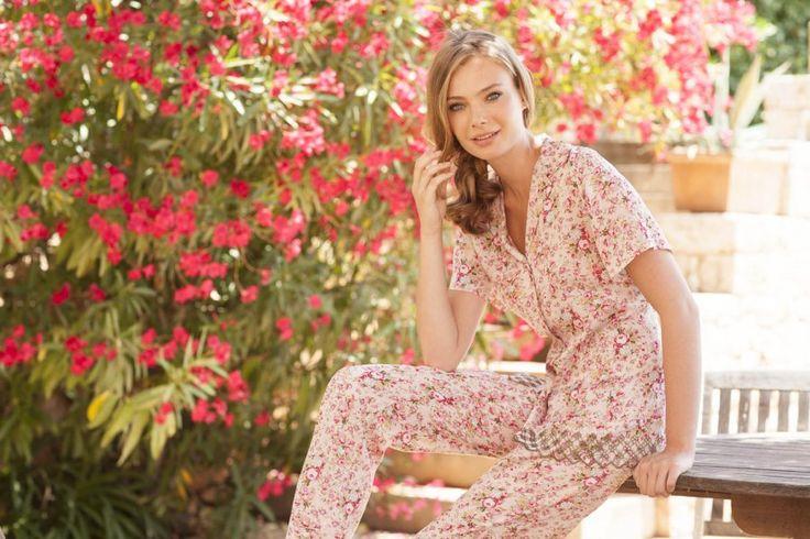 Pyjama in woven viscose print - Nota Lingerie