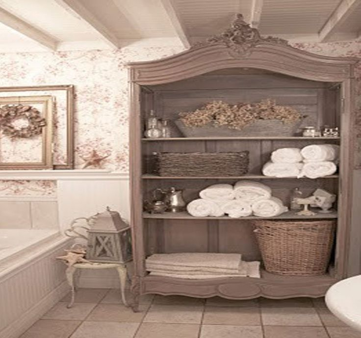 606 best images about adorable bathrooms on pinterest for Country cottage style bathrooms