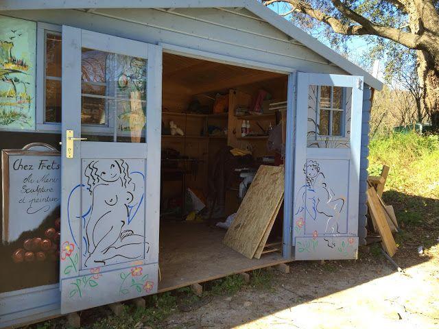 Dans l'atelier de Frets Verheers à Venzolasca en Corse... #Art #Artiste