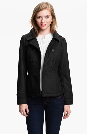 Tulle Hooded Peacoat (Juniors) available at #Nordstrom