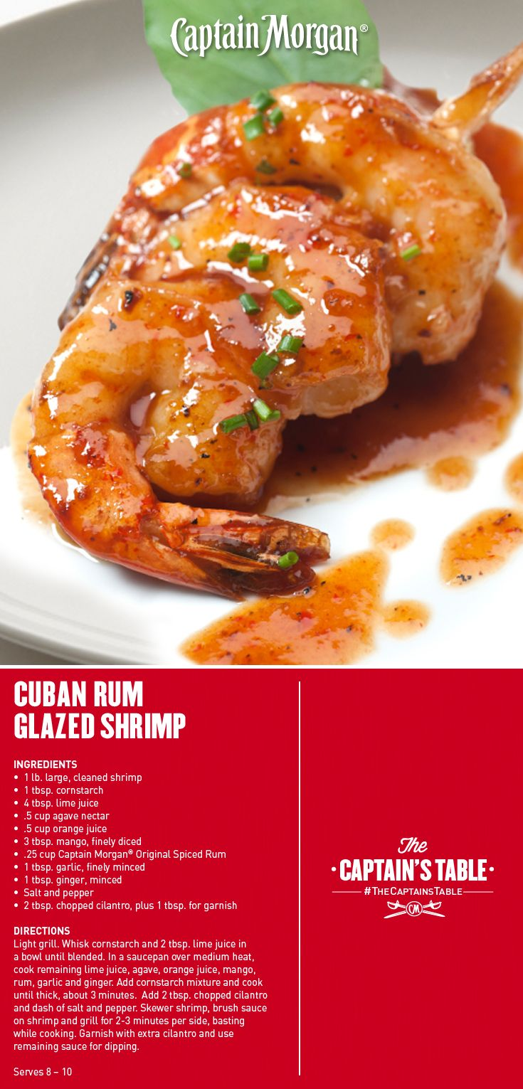11 best rum around the world images on pinterest rum recipes cuban rum glazed shrimp a recipe that will deliver spice and soul to all forumfinder Image collections