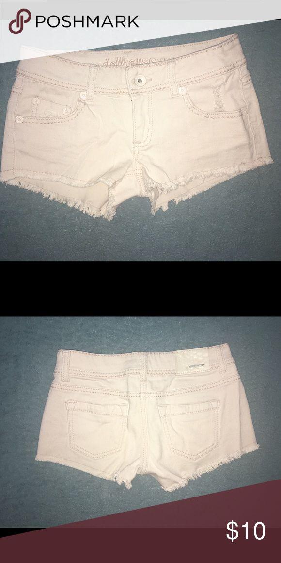 Light pink shorts Light pink jean shorts. Size 5. Dollhouse Shorts Jean Shorts