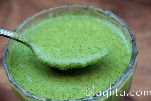Jalapeño cilantro salsa