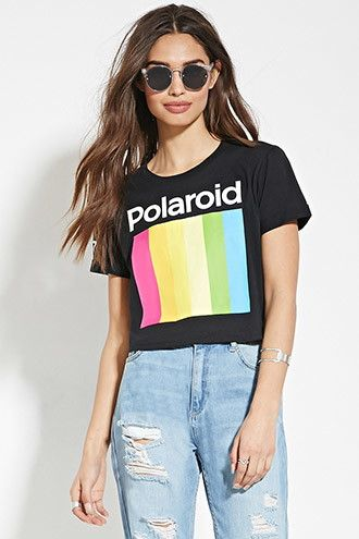 Polaroid Graphic Crop Top   Forever 21 - 2000185274