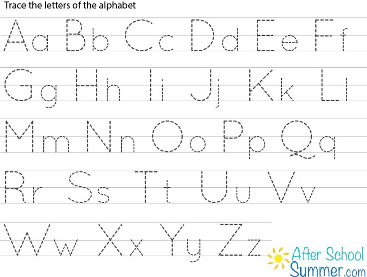 Effortless image for letter tracing printable