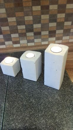 Teelichthalter Trio aus Beton