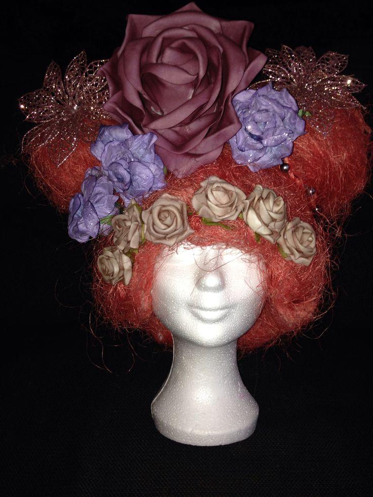Pruik bloemen - wig flowers