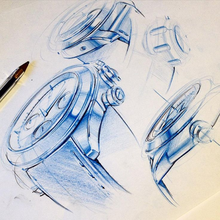 Instead of always keeping the sketches in grey tones, it is nice to use some colors sometimes #blue @studiodivine