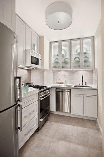 Hermosa cocina en un espacio pequeño