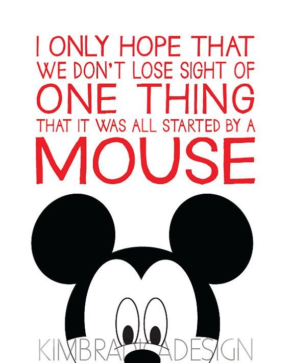 Mickey Minnie Or Disney Quote 8x10 Digital By KimBradicaDesign, $15.00