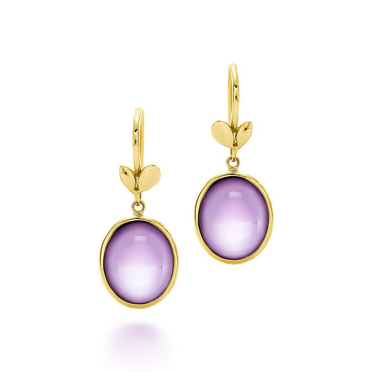 Paloma Picasso®:Olive Leaf Drop Earrings - Diana owned TIFFANY AND CO. BY PALOMA PICASSO AMETHYST HEART AND YELLOW GOLD EARRINGS, which are no longer made