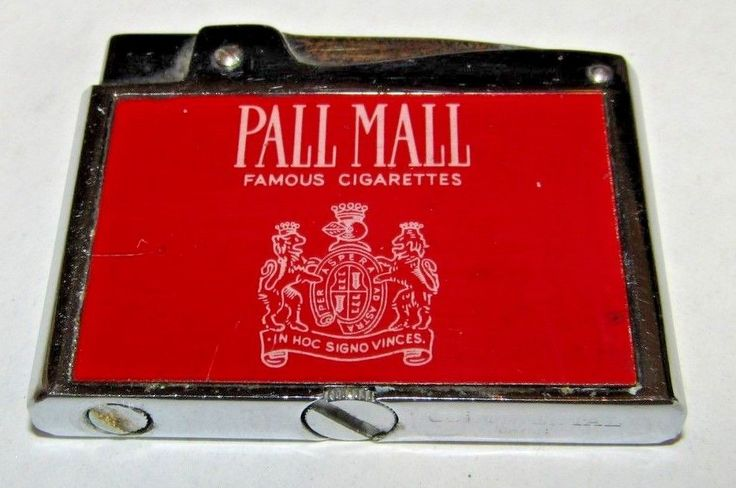 Vintage Working Flat Lighter Pall Mall Cigarettes Advertising