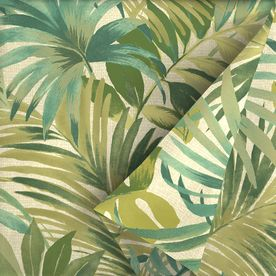 Sugar Leaf 54-in Green Tropical Outdoor Fabric (By-the-Yard)