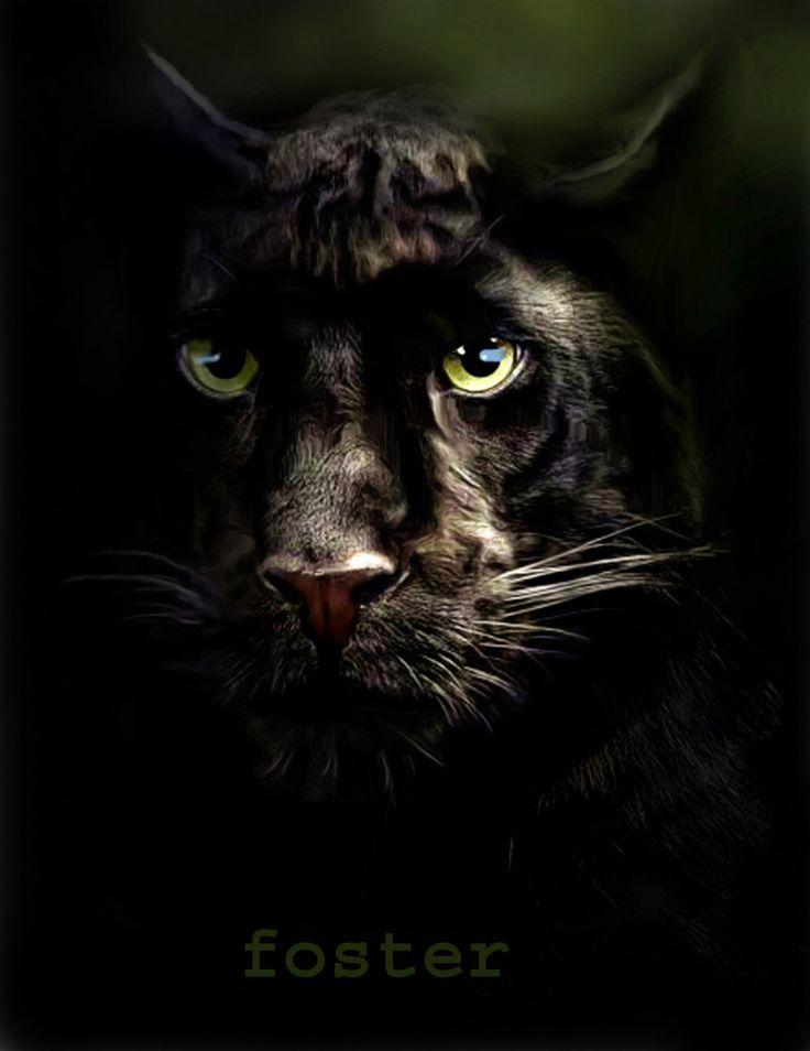 Black panther, black panther painting, black panther art, big cats, leopard art…