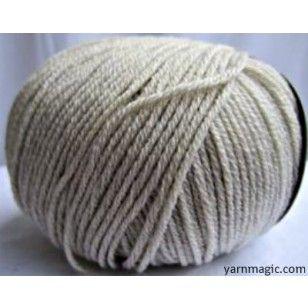 Beige Merino Wool 4 Ply Yarn