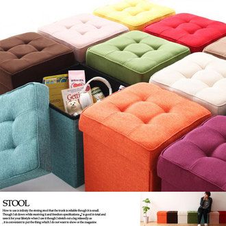 Stool storage stool Ottoman 1 p storage box fabric 20 colors for the dresser trunk Chair & The 25+ best Storage stool ideas on Pinterest | Workbench stool ... islam-shia.org