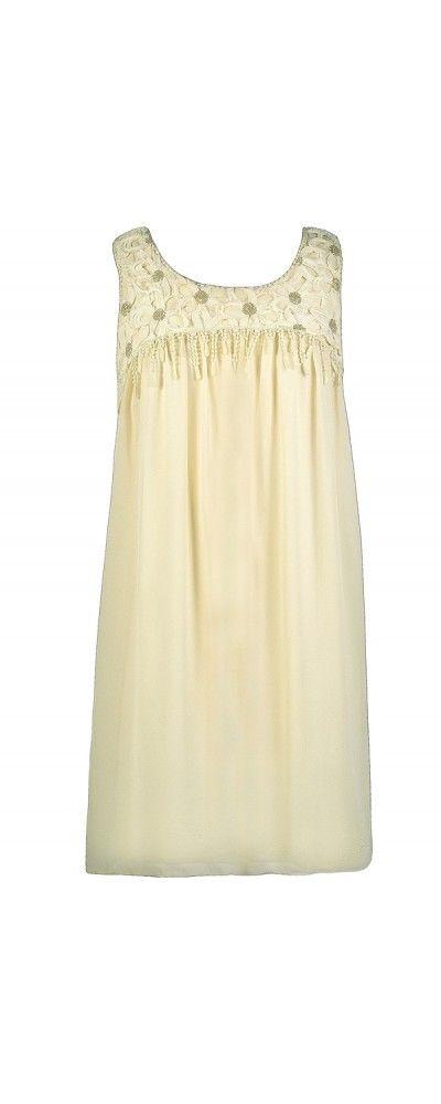 Lily Boutique Sequin Flowy Trapeze Cream Dress, $48 Cream Trapeze Dress, Cute Cream Dress, Flowy Cream Dress www.lilyboutique.com