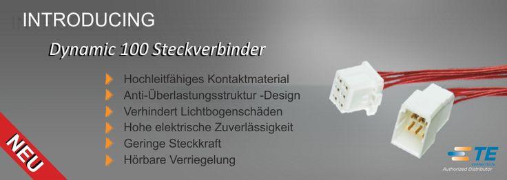 SHC GmbH - TE's Dynamic 1000 #Steckverbinder // Die Dynamische 1000-Serie ist die mit den kleinsten Anschlüsse für Signalleitungen in der Dynamic Stecker Serie. Die Serie 1000 ist sowohl mit Crimp- oder Federklemme erhältlich und es stehen drei Rastermaße zur Verfügung. #Technik #TEConnectivity #Steckverbinder #DynamicSeries #SHC