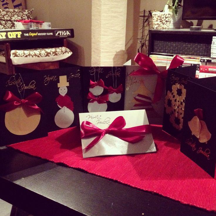 Itse tehtyjä joulukortteja
