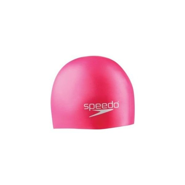 Speedo Junior Silicone Swim Cap ($11) ❤ liked on Polyvore featuring accessories, hats, sport hats, silicone cap, sports cap, sports caps hats and wide hat