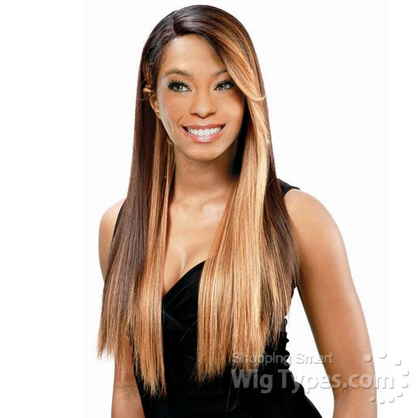 Model Model Synthetic Hair Lace Deep Invisible L Part Lace Front Wig - MUZE [7604]