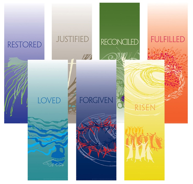 Image detail for -LENT/EASTER FABRIC BANNERS (SET OF 7) INDOOR SANCTUARY BANNER ...