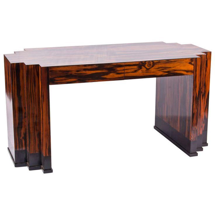 Macassar Art Deco Bureau | From a unique collection of antique and modern desks at http://www.1stdibs.com/furniture/storage-case-pieces/desks/