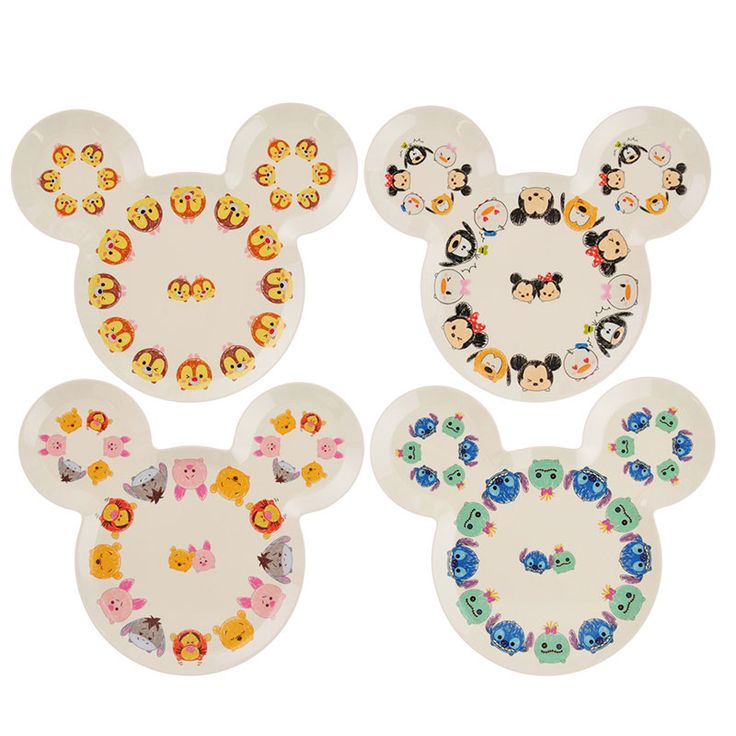 Disney Tsum Tsum Melamine Plate Set Disney Store Japan