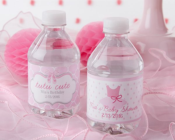 Why serve plain water at your ballet-themed baby shower or birthday party when you can serve tutu cute water bottles, instead? Wrap Kate Aspen's personalized labels around bottles of water to complete the them of your celebration.