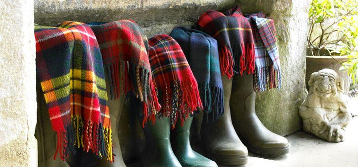 Bronte by Moon. Highland tweed scarves: