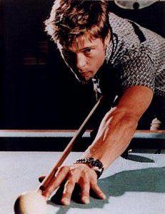 Brad Pitt playing pool