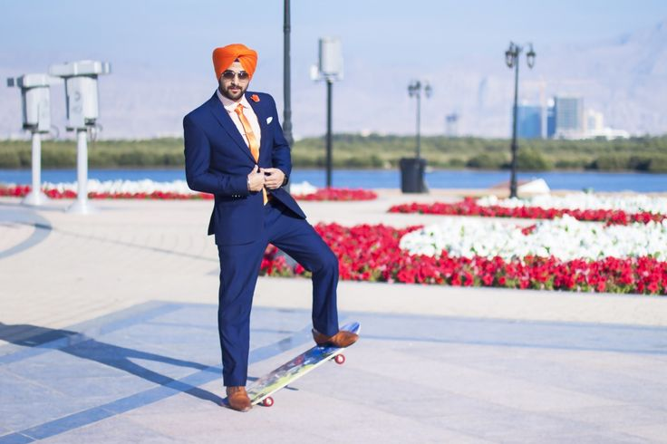 Sikh Men Fashion Style Surjit Singh Blue Suit Urban Sardar Sikh Fashion. Visit: theurbansardar.com