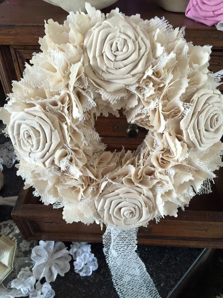 """Shabby Chic/ Vintage Wreath Handmade by                          """" Herzstücke"""""""