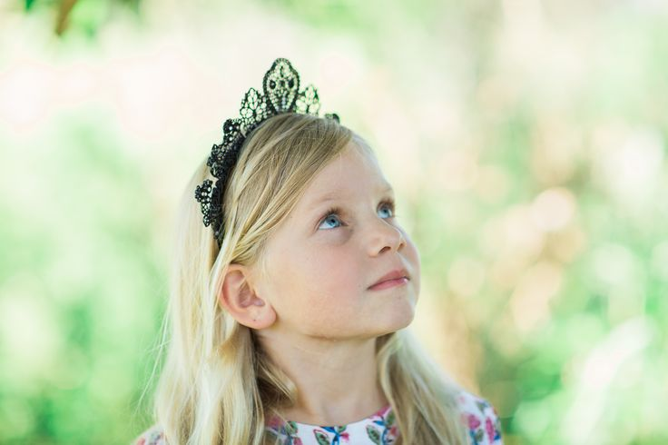 * FOLLOW ON INSTAGRAM @ archnollie * Our Lattice Lace Race crown is an intricate design of metal moulding to reflect lace without the worry of little hands damaging the fragile nature that is lace. It's a show stopper piece in black with tiny crystal embedded into the crown to add a extra slice of glamour come race day. Unique Children's Headwear. Birthday, Baptism, Christening, Wedding, Flower girl, Newborn, Photography Props, Boho, Kids Fashion, Hair Accessory, Headbands, Race Hat and more