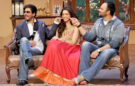 Chennai Express Promotion – Deepika takes SRK for a Ride
