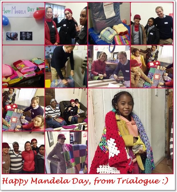 Our Cape Town team joined @PearsonImpact & #TrueNorth to make blankets4children - THNX 4 a lovely morning #MandelaDay