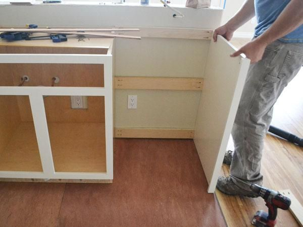 How To Install End Panel On Kitchen Cabinets