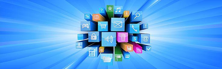 интернет - технологии, синий фон, интернет - элементов, Изображение на заднем плане