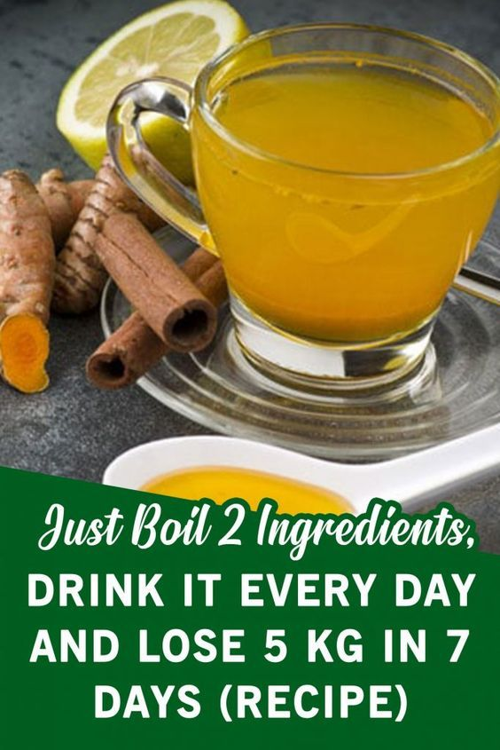 Just Boil 2 Ingredients, Drink It Every Day and Lose 5 kg In