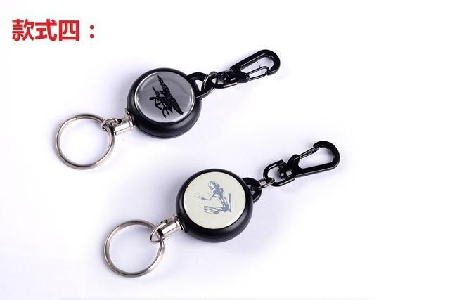 Steel Rope Tactical Retractable Key Chain