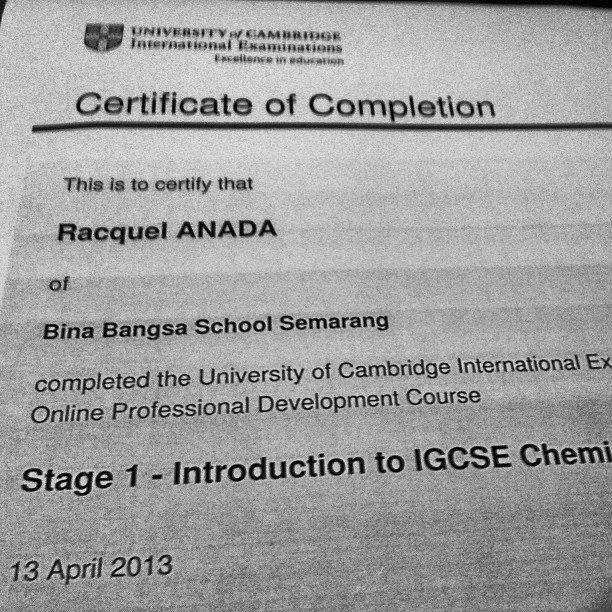 certified cambridge chemistry teacher ya'll!