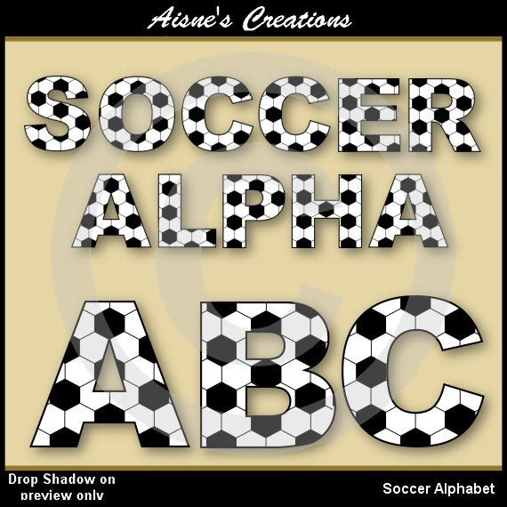 Soccer Alphabet set - matching number set available