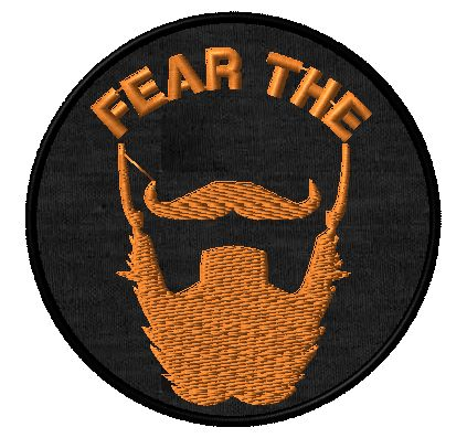 ginger fear the beard patch