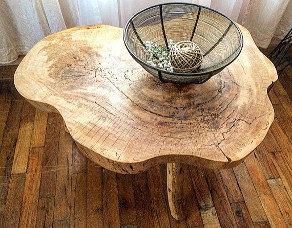 Live Edge Tree Coffee Table  Log Coffee от HandcraftedArcadians