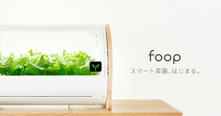 foop - スマート菜園、はじまる。 foop - the Smart IoT Farming at Home!